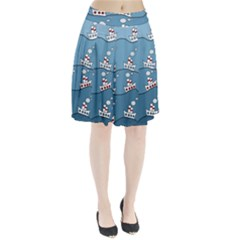 Boats Pleated Skirt