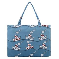 Boats Medium Zipper Tote Bag
