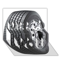 Tire Miss You 3D Greeting Card (7x5)