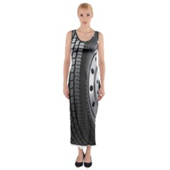 Tire Fitted Maxi Dress