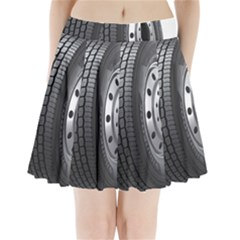 Tire Pleated Mini Skirt