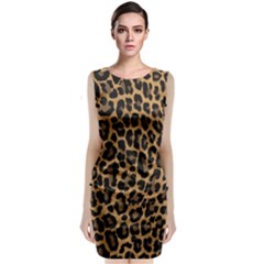 Tiger Skin Art Pattern Classic Sleeveless Midi Dress