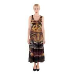 Tiger Face Sleeveless Maxi Dress
