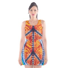 Tie Dye Peace Sign Scoop Neck Skater Dress