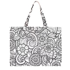 These Flowers Need Colour! Large Tote Bag