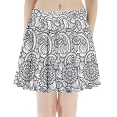 These Flowers Need Colour! Pleated Mini Skirt