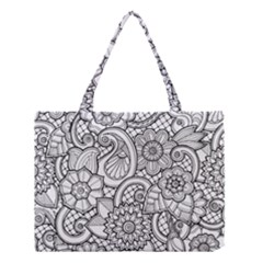 These Flowers Need Colour! Medium Tote Bag