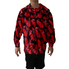 The Red Butterflies Sticking Together In The Nature Hooded Wind Breaker (Kids)