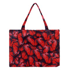 The Red Butterflies Sticking Together In The Nature Medium Tote Bag