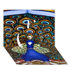 The Peacock Pattern Apple 3D Greeting Card (7x5)