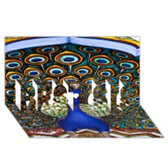 The Peacock Pattern BEST SIS 3D Greeting Card (8x4)