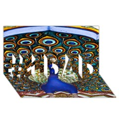 The Peacock Pattern #1 DAD 3D Greeting Card (8x4)