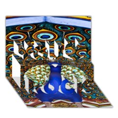 The Peacock Pattern You Rock 3D Greeting Card (7x5)