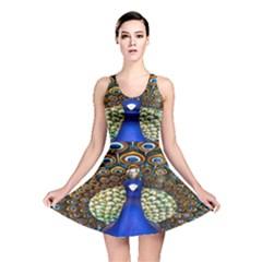 The Peacock Pattern Reversible Skater Dress