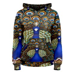 The Peacock Pattern Women s Pullover Hoodie