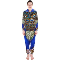 The Peacock Pattern Hooded Jumpsuit (Ladies)