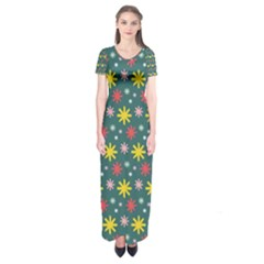The Gift Wrap Patterns Short Sleeve Maxi Dress