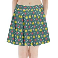 The Gift Wrap Patterns Pleated Mini Skirt