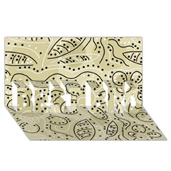 Floral decor  BEST BRO 3D Greeting Card (8x4)