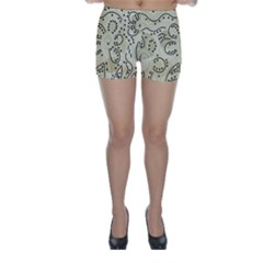 Floral decor  Skinny Shorts