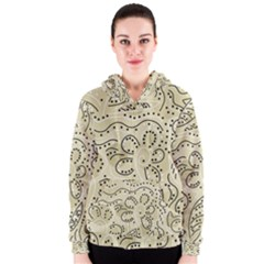 Floral decor  Women s Zipper Hoodie