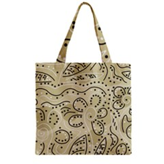 Floral decor  Zipper Grocery Tote Bag