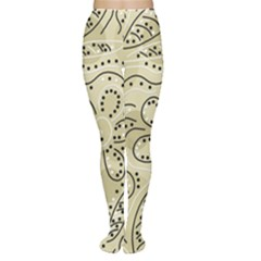 Floral decor  Women s Tights