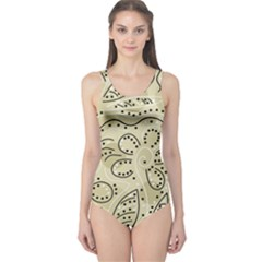 Floral decor  One Piece Swimsuit