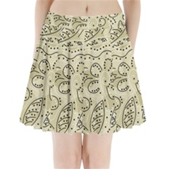 Floral decor  Pleated Mini Skirt