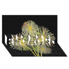 Dandelions ENGAGED 3D Greeting Card (8x4)