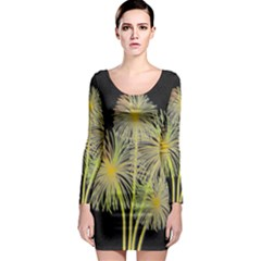 Dandelions Long Sleeve Bodycon Dress