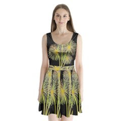 Dandelions Split Back Mini Dress