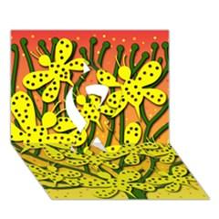 Bees Ribbon 3D Greeting Card (7x5)