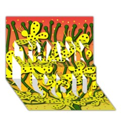 Bees THANK YOU 3D Greeting Card (7x5)