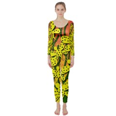 Bees Long Sleeve Catsuit