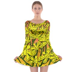 Bees Long Sleeve Skater Dress