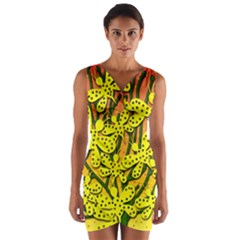 Bees Wrap Front Bodycon Dress