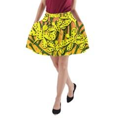Bees A Line Pocket Skirt