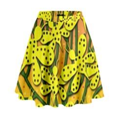 Bees High Waist Skirt
