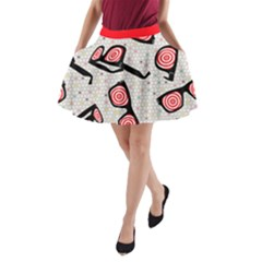 X Ray Vision  A Line Pocket Skirt