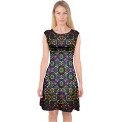The Flower Of Life Capsleeve Midi Dress