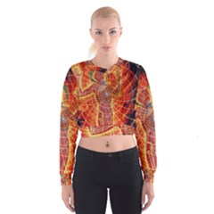 The Biology Of Kundalini Women s Cropped Sweatshirt