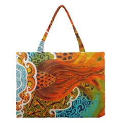 The Beautiful Of Art Indonesian Batik Pattern Medium Tote Bag