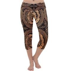 The Art Of Batik Printing Capri Yoga Leggings