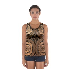The Art Of Batik Printing Women s Sport Tank Top