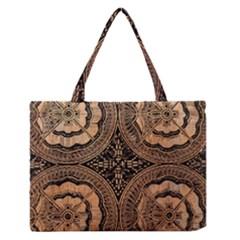 The Art Of Batik Printing Medium Zipper Tote Bag
