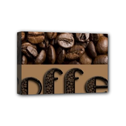 Funny Coffee Beans Brown Typography Mini Canvas 6  x 4