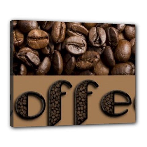 Funny Coffee Beans Brown Typography Canvas 20  x 16