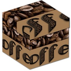Funny Coffee Beans Brown Typography Storage Stool 12