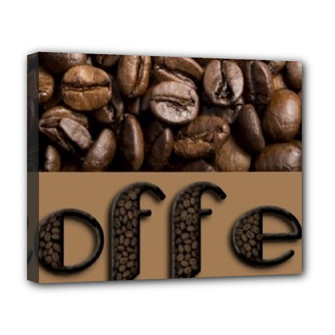 Funny Coffee Beans Brown Typography Deluxe Canvas 20  x 16